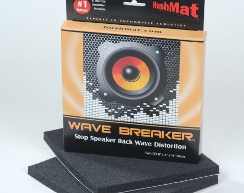 "HushMat Wave Breaker Kit 8 Pack - Each Kit Contains 2- 8"" x 8"" ea Speaker Back Wave Deflecting Pads 88450"