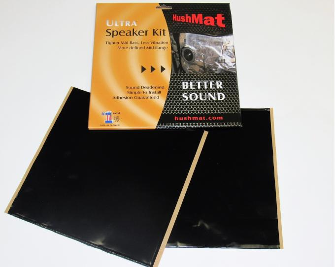 "HushMat Speaker Kit - Stealth Black Foil with Self-Adhesive Butyl-2 Sheets 10"" x 10"" ea 1.4 sq ft 10110"