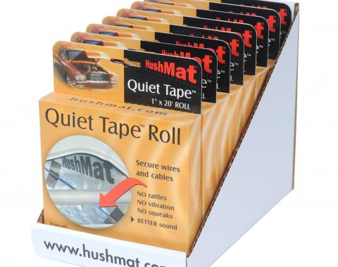 "HushMat Quiet Tape 8 Pack of Shop Roll - Each One 1"" x20'x1mm Single Side Foam Tape ea 80300"