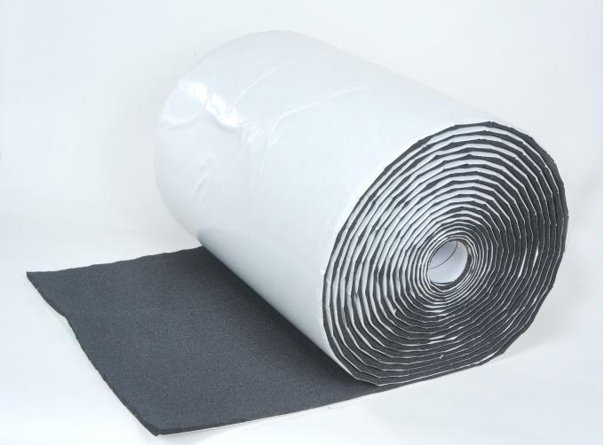"HushMat 1/ 2"" Silencer Megabond Thermal Insulating Self-Adhesive Foam Bulk Roll - 24"" x50' ea 100 sq ft 22500"