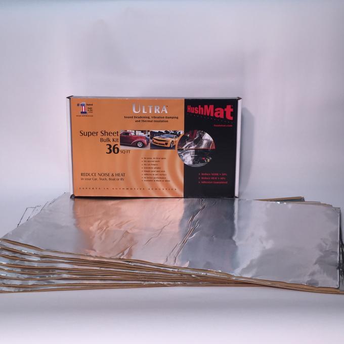 """HushMat Super Bulk Kit - Silver Foil with Self-Adhesive Butyl-9 Sheets 18"""" x 32"""" ea 36 sq ft 10801"""