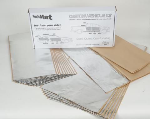 HushMat Mid Roof Cab 68 in to 72 in Sleeper - Sleeper and Floor Insulation Kit 81114
