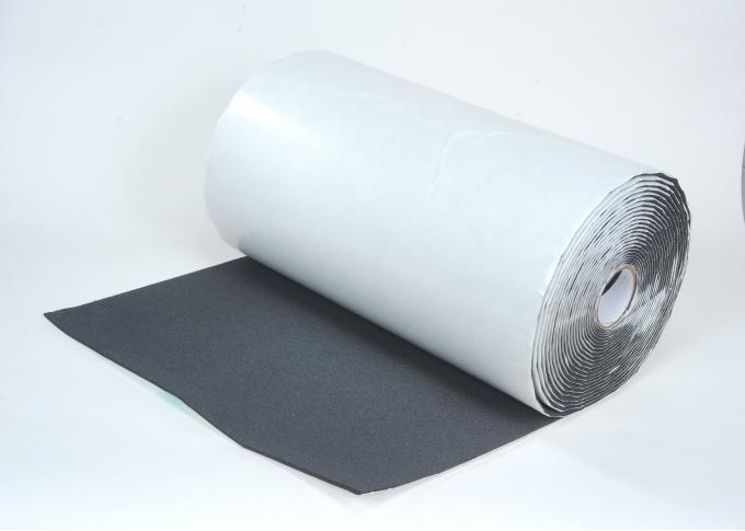 "HushMat 1/ 4"" Silencer Megabond Thermal Insulating Self-Adhesive Foam Bulk Roll - 24"" x50' ea 100 sq ft 22400"