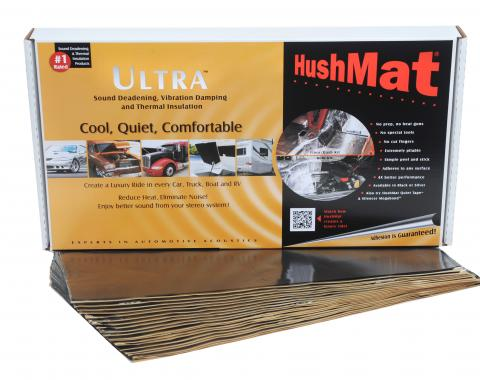 "HushMat Floor/Firewall Kit - Stealth Black Foil with Self-Adhesive Butyl-20 Sheets 12"" x 23"" ea 38.7 sq ft 10400"