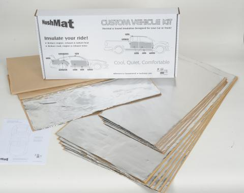 HushMat Universal Flat Top Truck Cab and Floor Sound and Heat Insulation kit 80001