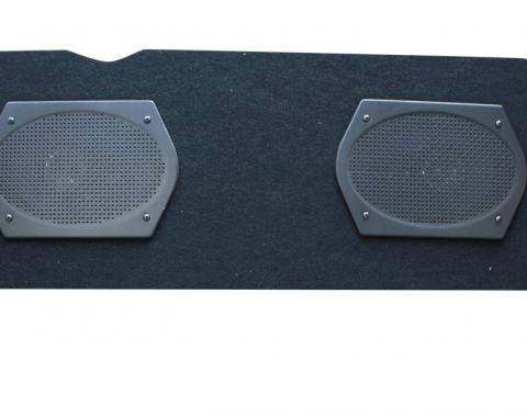 Custom Autosound Rear Panel Speaker Assembly, Thunderbird, with Dual 6x9 Speakers, 1955-1957