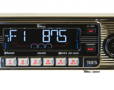 Custom AutoSound® 4-Din Radios | Chrome Face