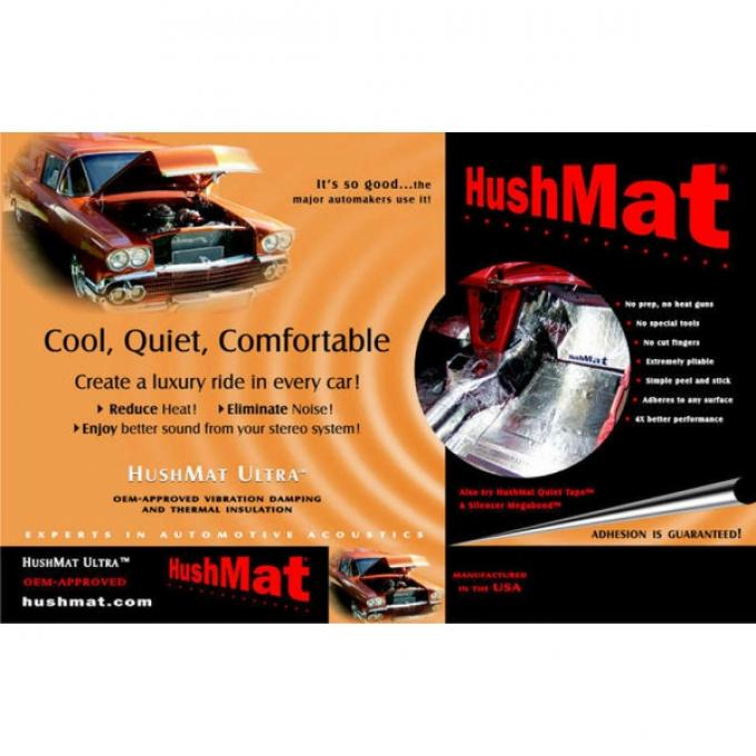 Hushmat Ultra Insulation, Floor Pan, For Tri-Five Chevy, 1955-1957