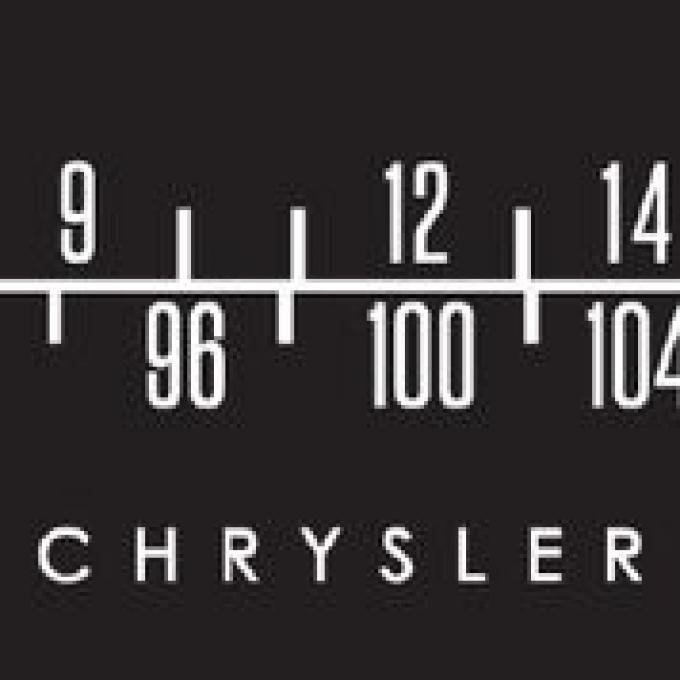 RetroSound Chrysler Logo Screen Protector for Standard Radios, Pkg of 3