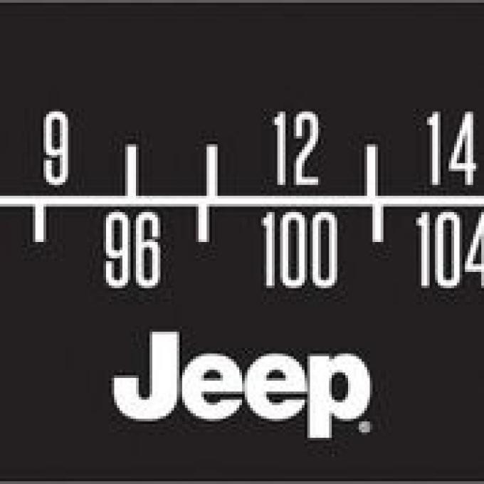 RetroSound Jeep Logo Screen Protector for Standard Radios, Pkg of 3