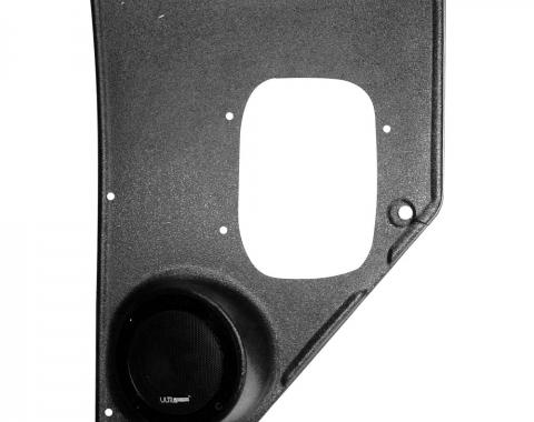 Custom Autosound Chevy Truck Kick Panels with 80 Watt Speakers, 1955-1959