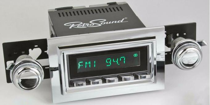 RetroSound 1968 Ford Mustang with Padded Console Long Beach Radio