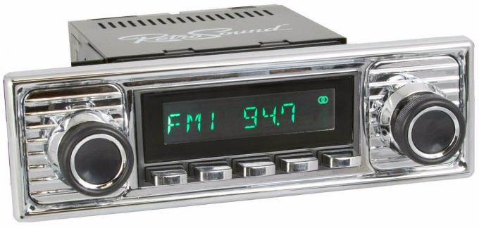 RetroSound 1955-65 Mercedes Benz 190 Long Beach Radio with Chrome Faceplate