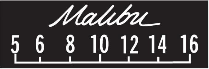 RetroSound Chevrolet Malibu Logo Screen Protector, Pkg of 3