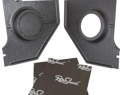 RetroSound Kick Panels for 1964-66 Ford Mustang Coupe/Fastback