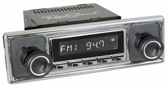 RetroSound 1961-71 Jaguar XK Series Long Beach Radio with Becker-Style Plate