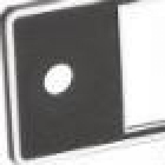 RetroSound Black with Chrome Trim Mini Euro Plate (#503)