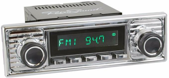 RetroSound 1955-63 Mercedes Benz 180 Long Beach Radio with Chrome Faceplate