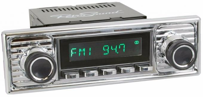 RetroSound 1966-68 Mercedes Benz 200 Long Beach Radio with Chrome Faceplate