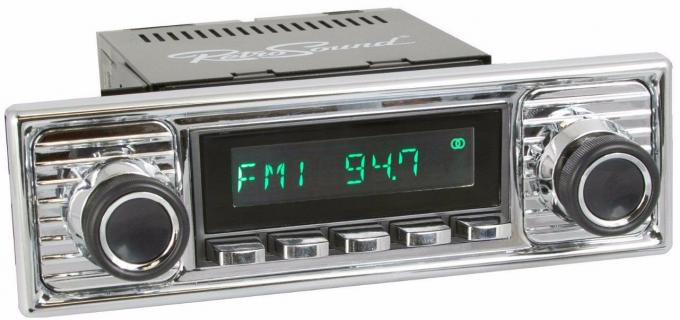 RetroSound 1955-66 Mercedes Benz 220 Long Beach Radio with Chrome Faceplate