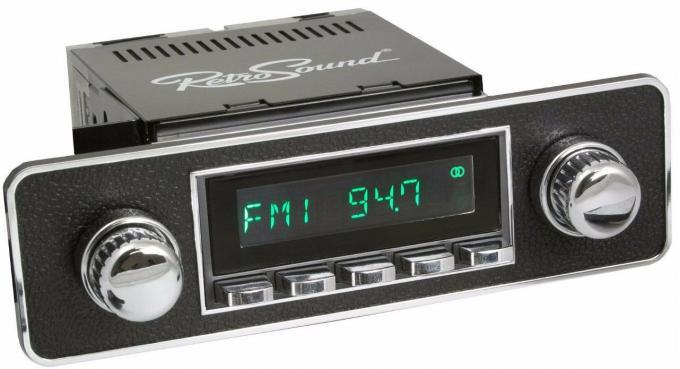 RetroSound 1972-74 Jaguar V12 Long Beach Radio with Euro-style Plate
