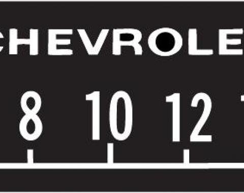 RetroSound Chevrolet Logo Screen Protector with Block Lettering, Pkg of 3