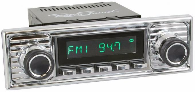 RetroSound 1960-66 Mercedes Benz 300 Long Beach Radio with Chrome Faceplate