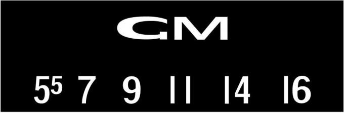 RetroSound GMC Logo Screen Protector, Pkg of 3