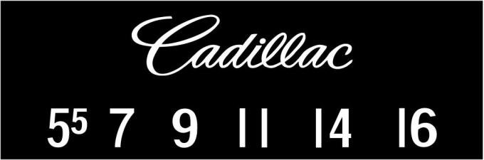 RetroSound Cadillac Logo Screen Protector, Pkg of 3
