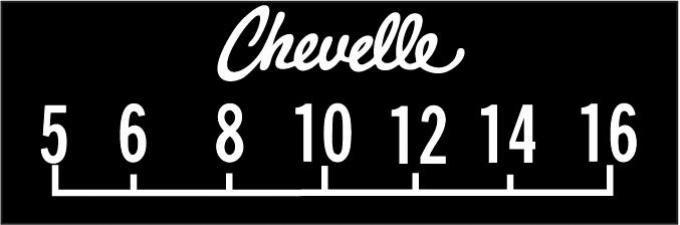 RetroSound Chevrolet Chevelle Logo Screen Protector, Pkg of 3