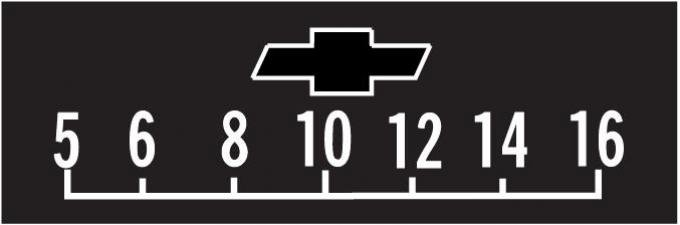 "RetroSound Chevrolet Logo Screen Protector with Outline ""Bowtie"", Pkg of 3"