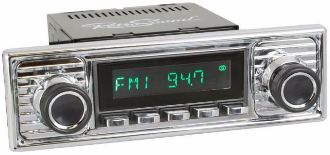 RetroSound 1964-72 Mercedes Benz 600 Long Beach Radio with Chrome Faceplate