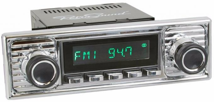 RetroSound 1955-59 Mercedes Benz 300 Series Long Beach Radio with Chrome Faceplate