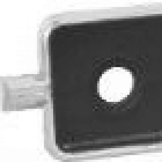 RetroSound Sapphire Faceplate Black Inset Area with Chrome Trim (#504)