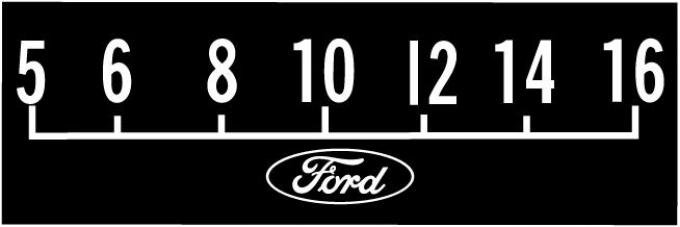 RetroSound Ford Logo Screen Protector Late 1960's to Mid 1970's with Classic Ford Oval, Pkg of 3