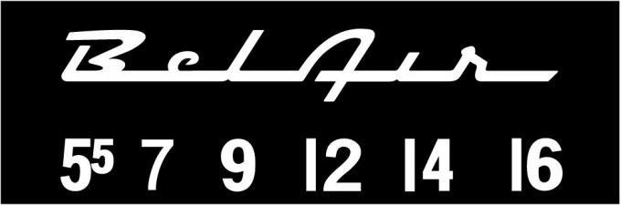 RetroSound Chevrolet Bel Air Logo Screen Protector, Pkg of 3