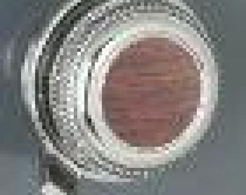RetroSound 03 Knobs with WSR-1 Walnut Stickers (#63) / Chrome Rear Knobs (#73)